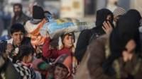 réfugiés fuyant Alep