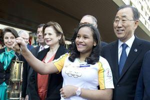 JO de Rio : La flamme olympique est arrivée au Brésil